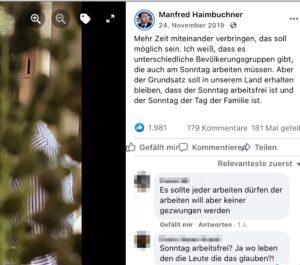 Familienfoto von Haimbuchner auf Facebook (2019)