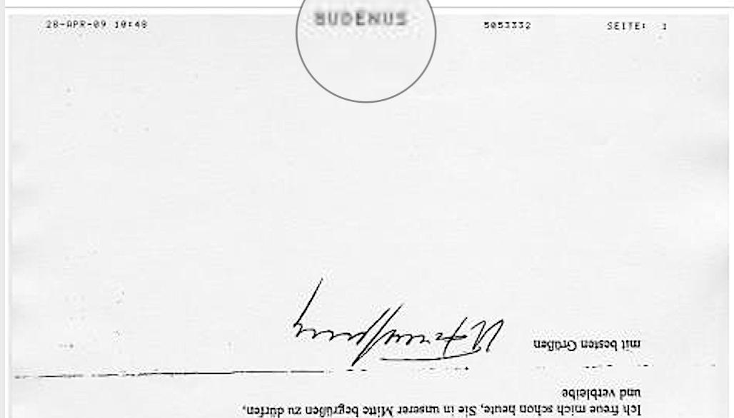 Faxkennung Gudenus im NID Infoblog