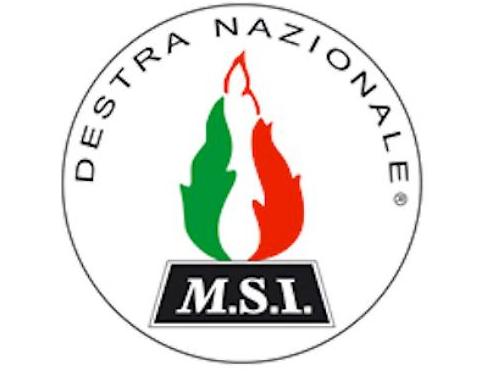Flamme der neofaschistischen M.S.I.