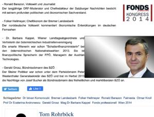 """""""Fonds professionell Kongress 2014"""" mit Barazon, Kappel und Grosz (Quelle: skylla.at)"""