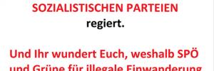 Freie Österreicher: Nachdenken! Übderdenken [sic!] Schlüsse ziehen! Die meisten muslimischen Staaten werden von SOZIALISTISCHEN PARTEIEN regiert.
