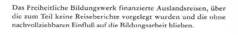 Nachtrag zum Tätigkeitsbericht des Rechnungshofes 1995 (Reihe Bund 1997/1), FBW Reisespesen
