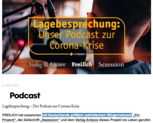 Freilich-Podcast mit Ein Prozent, Antaios und Sezession