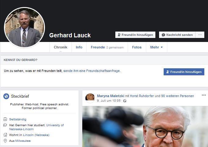 Gary Lauck auf Facebook
