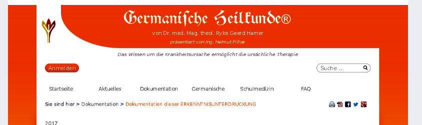 Germanische Heilkunde bis 2017