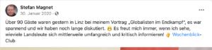 """Stefan Magnet: """"Globalisten im Endkampf"""""""