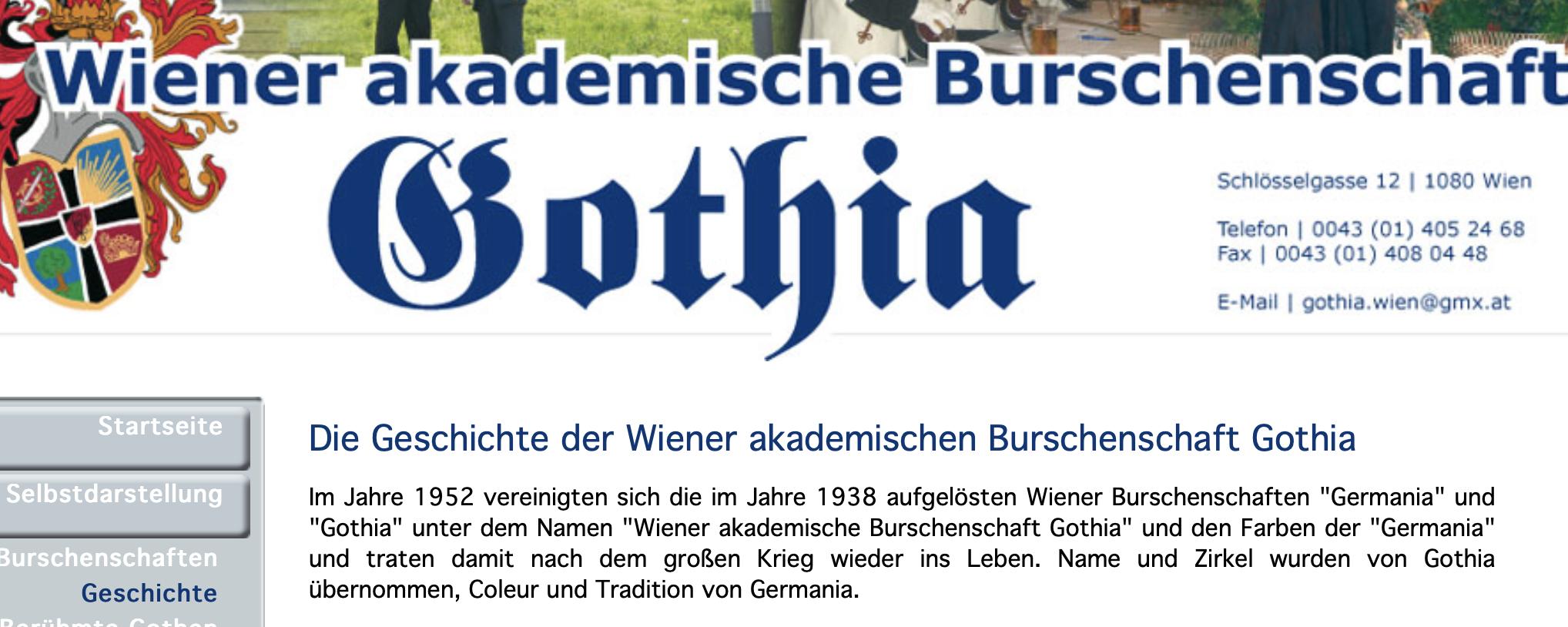 """Die Gothia Wien in der Selbstdarstellung: der Zweite Weltkrieg als """"der große Krieg"""""""
