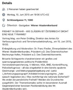 Peter Gridling und Franz Fiedler im WAB