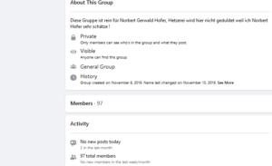 """Funkstille in der Facebook-Gruppe """"Wir stehen 100% hinter Norbert Gerwald Hofer"""": """"No new posts"""""""