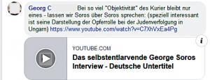 """Antisemitismus bei Gudenus: Georg Ch. """"enttarnt"""" Soros"""