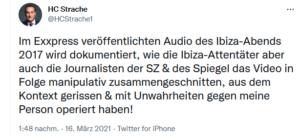 """Strache beklagt sich über """"manipulativ"""" zusammengeschnittenes Video"""