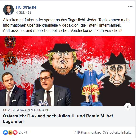 """HC Strache und die Trollfabrik """"Berliner Tageszeitung"""""""