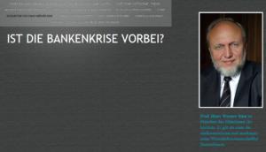 Hans Werner Sinn liefert Platz zum Nachdenken: kein Text
