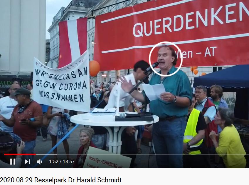 Harald Schmidt am 29.8. als Redner bei der Coronaleugner-Demo