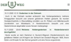 "Der III. Weg: Heldengedenken in der ""Ostmark"" – Niederösterreich 2020"