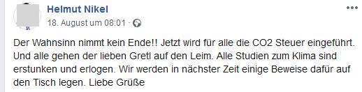"""Helmut Nikel: """"Studien zum Klima sind erstunken und erlogen"""""""