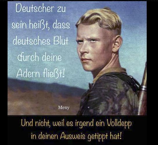 """FB-Profil Herbert Schweiger alias Jürgen W.: """"Deutscher zu sein heißt, dass deutsches Blut durch deine Adern fließt!"""""""