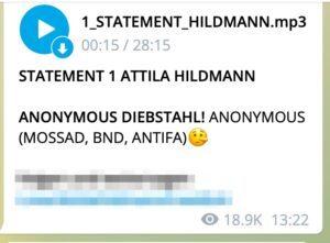"Hildmann beschuldigt ""Mossad, BND, Antifa"""