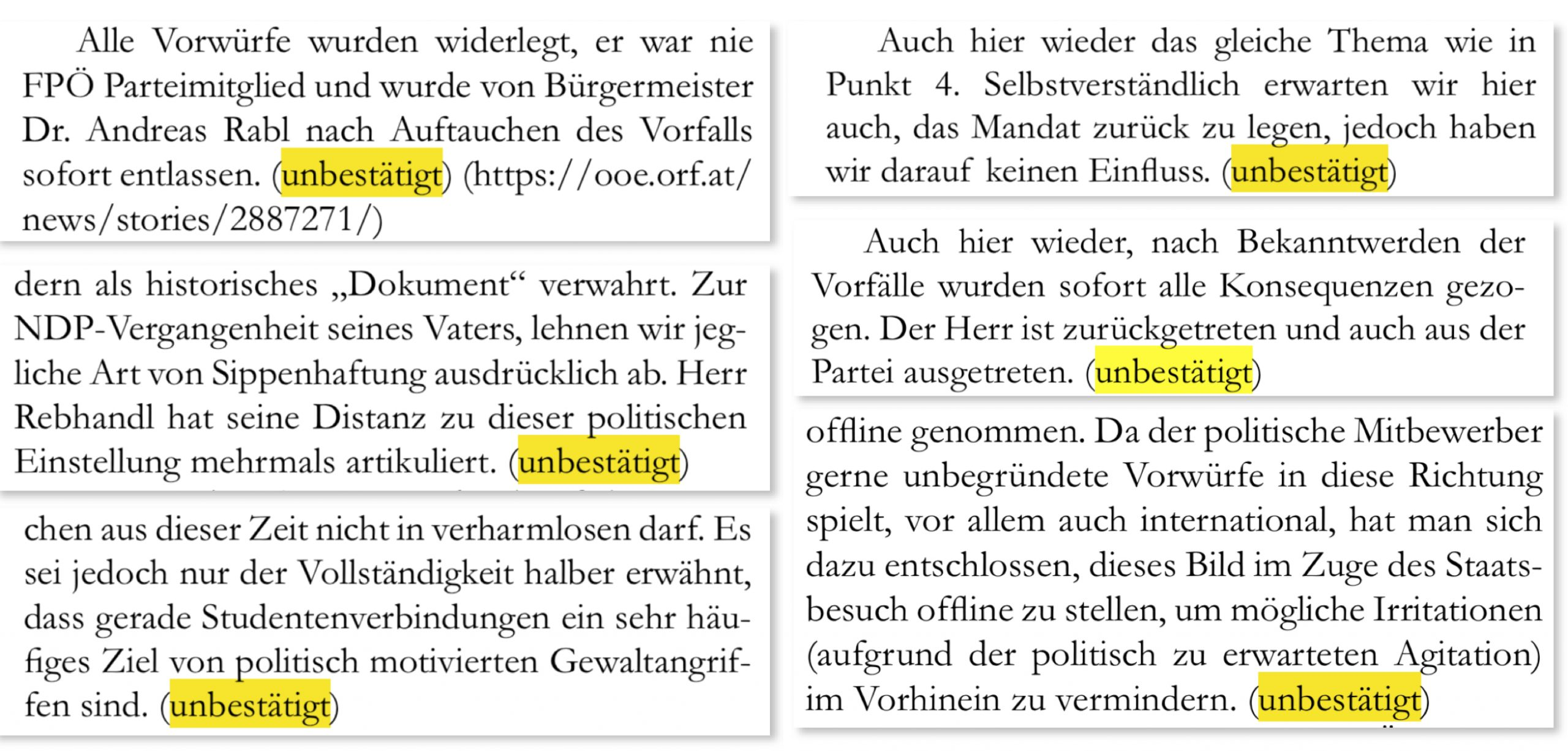 "FPÖ-Historikerbericht ""unbestätigt"""