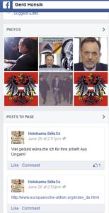 "FB-Seite Gerd Honsik: ""Holokamu Bélu Ss"" postet Link zur EA"