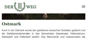 III. Weg: Heldengedenken in der Ostmark im März 2021
