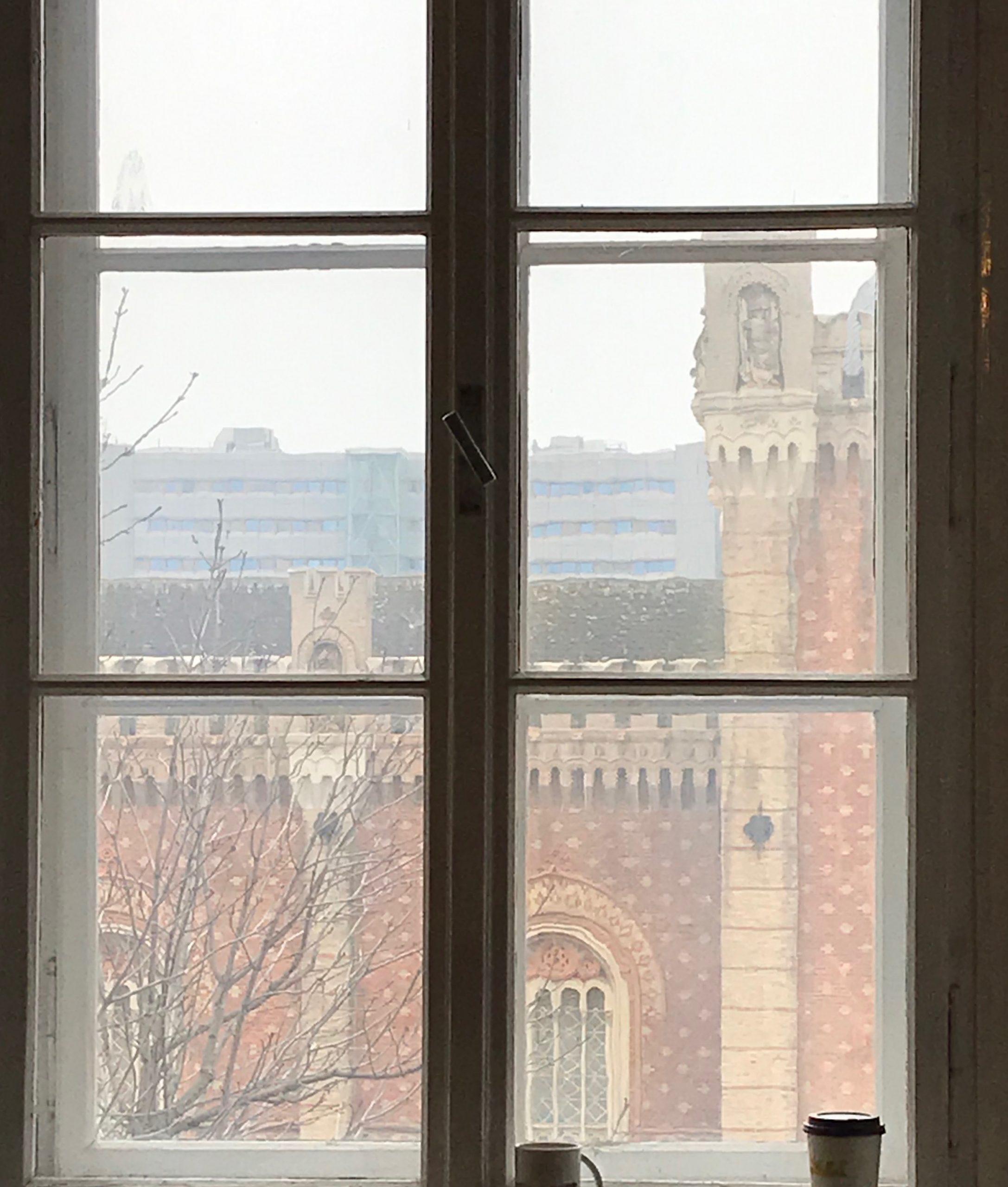 Fenster in die Vergangenheit: Blick vom Veranstaltungsort auf das HGM