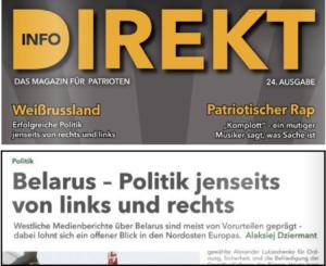 """Info-Direkt 24, 2018: """"Weißrussland – Erfolgreiche Politik"""""""