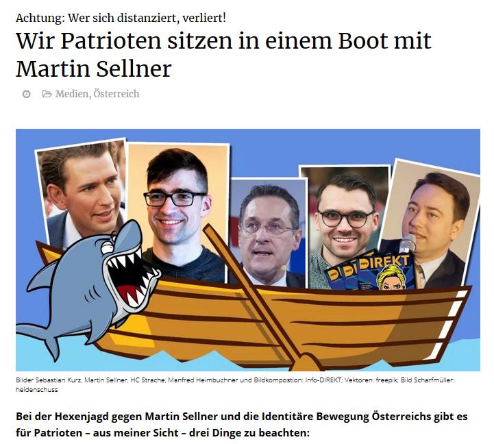 """Info-Direkt: """"Wir Patrioten sitzen in einem Boot mit Martin Sellner"""""""
