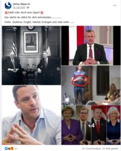 Klauninger ortet verräterische Raute bei Helmut Kohl, Norbert Hofer, Johann Gudenus u.a.