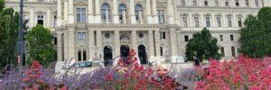 Der Justizpalast an jenem Tag, als der OGH den KZ-Überlebenden Recht gab