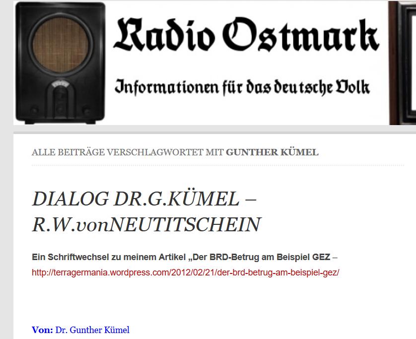 """Kümel auf """"Radio Ostmark"""""""