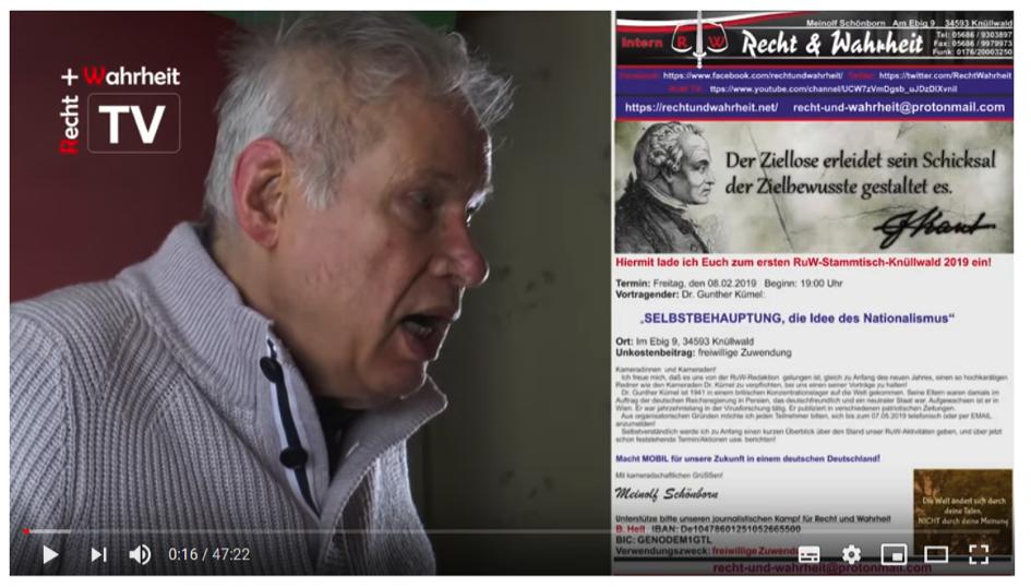 """Kümel bei """"Recht und Wahrheit"""" (Screenshot Video)"""