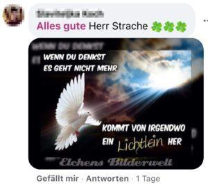 Kalenderspruch für Strache: Wenn du denkst es geht nicht mehr ... (Screenshot FB)