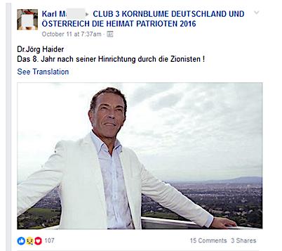 Karl M.: Haider und die Zionisten