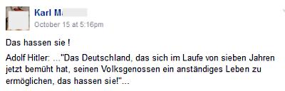 Karl M. mit Hitler-Rede