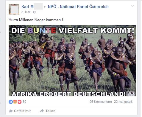 Karl M.: Millionen Neger kommen