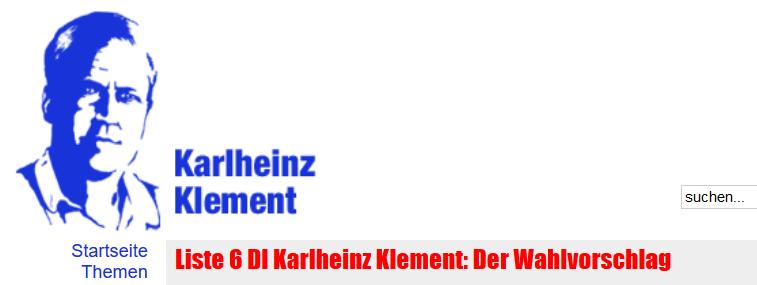 Karlheinz Klement Liste 6