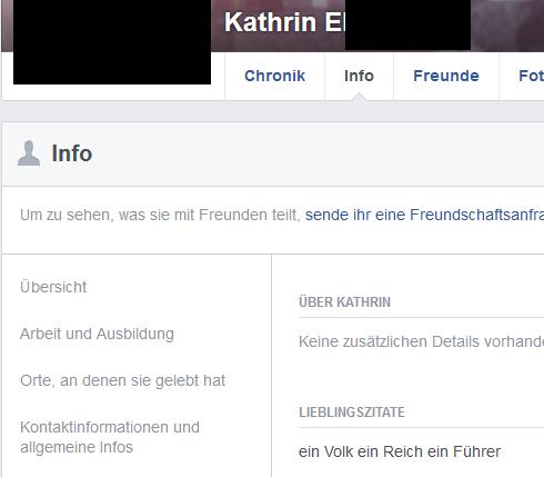 """Kathrin E.: """"ein Volk ein Reich ein Führer"""""""