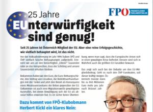 "Kickl FPÖ Klubinserat Info-Direkt ""EUnterwürfigkeit"""