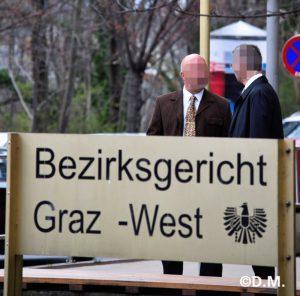 Der Angeklagte Thomas K. vor vor dem Grazer Gericht (© D.M.)