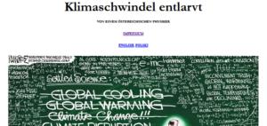 """Website """"Klimaschwindel"""""""