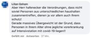 Kommentar bei Hafenecker