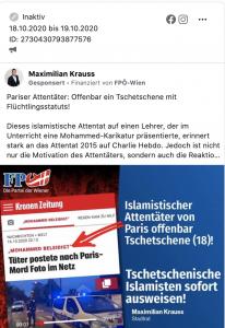 Krauss schaltet Werbung für Hetzposting