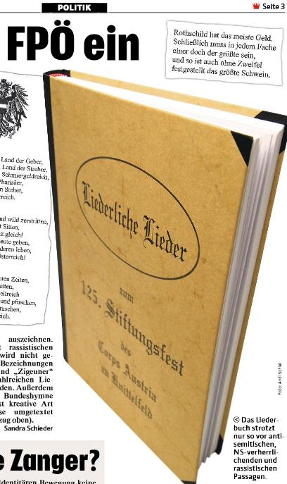 Kronen Zeitung 31.10.19, Liederbuch Austria Knittelfeld