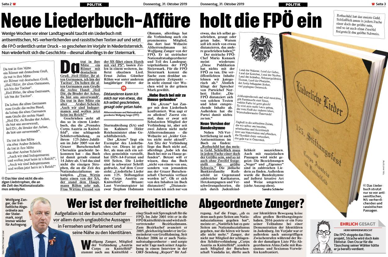 Kronen Zeitung 31.10.19