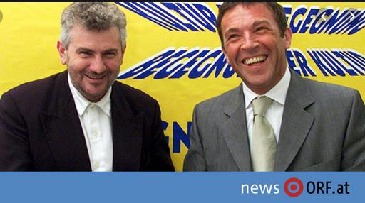 Andreas Mölzer mit Jörg Haider: Kulturbeauftragter mit Auftraggeber