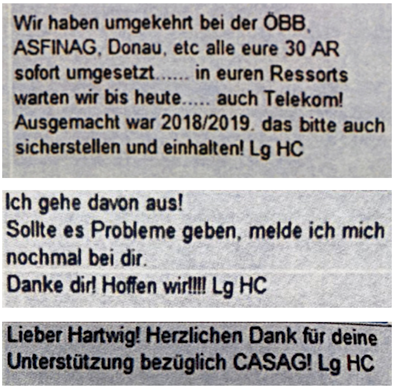 "Strache-Chats: ""Lg HC"""