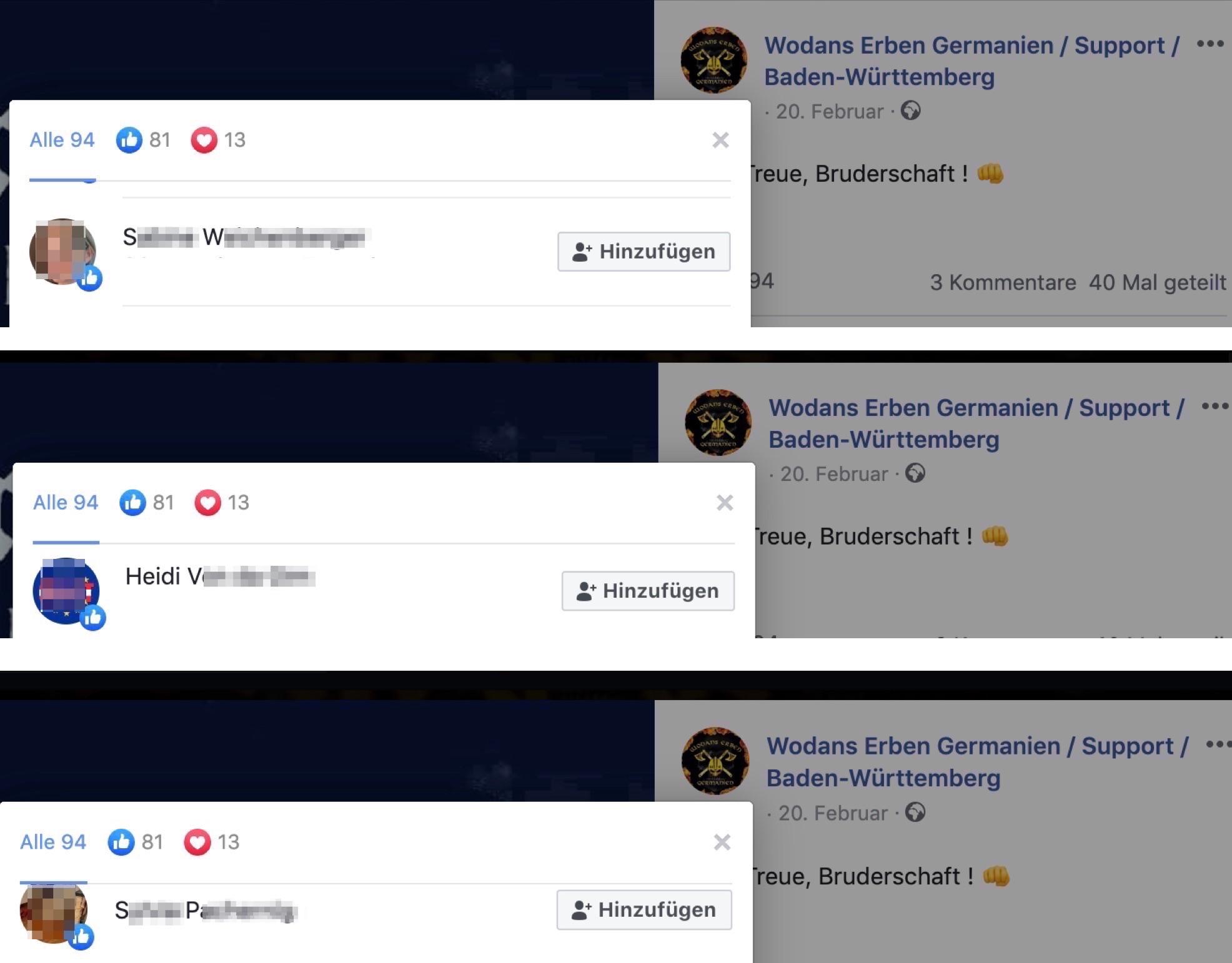 Likes für das zynische Posting am Tag nach Hanau durch Österreicherinnen