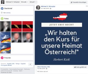 Michael V. Sch. (Germania Leipzig) teilt Kickl-Huldigung