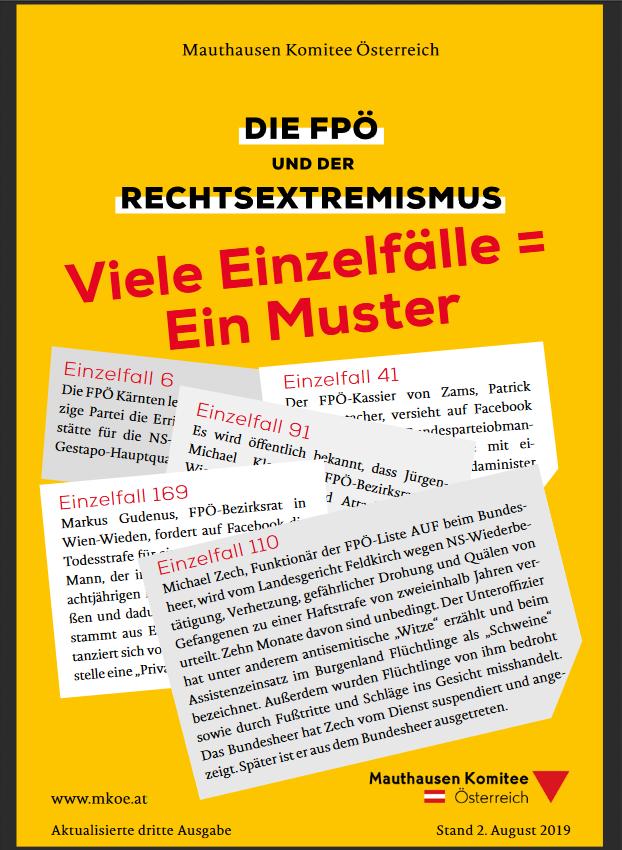 """Dritte Ausgabe der MKÖ-Broschüre """"Die FPÖ und der Rechtsextremismus"""""""